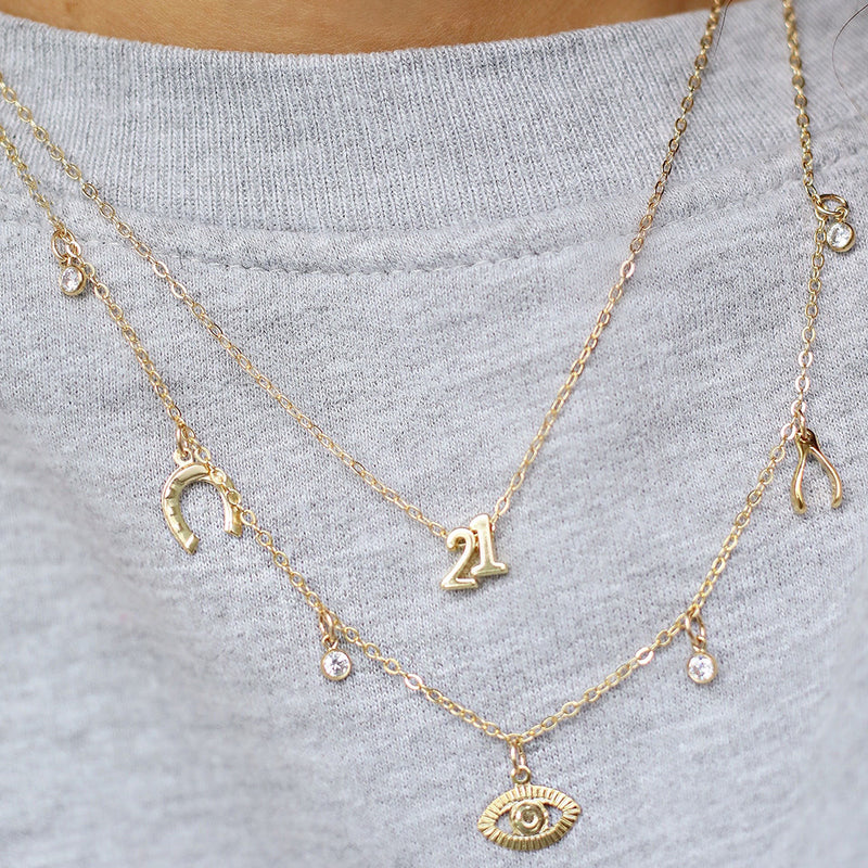 Winning Number Necklace