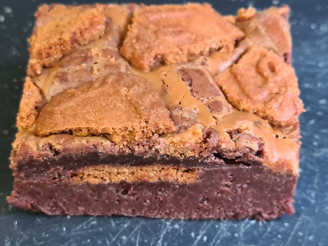 Lotus Biscoff brownie