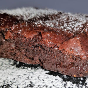 Vegan Double Chocolate Chip Brownie  (dairy, gluten, egg, soy and nut free)
