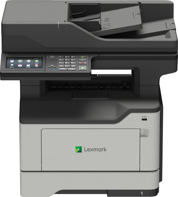 Lexmark XM1246 - Multifunction printer - B/W - laser - A4/Legal (media) - up to 46 ppm (copying) - up to 46 ppm (printing) - 350 sheets - 33.6 Kbps - USB 2.0, Gigabit LAN, USB 2.0 host-36S0860