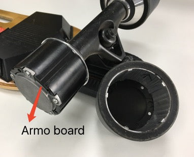 Armo board replaceable PU tire