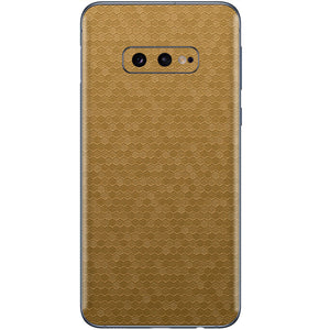 Normout Skin Honeycomb Gold  | Samsung Galaxy S10e | Normout.com