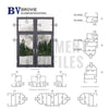 41 Series Aluminium Casement Window Profile