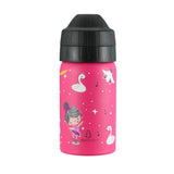 Pink spill and leak free kids drink bottle