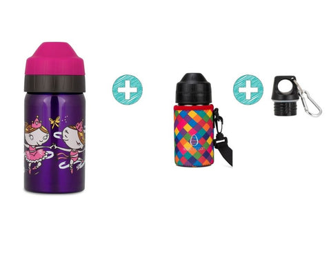 Bundle 350ml Bottle - BALLERINAS with Cuddler and Screw Top Lid