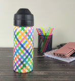 Office water bottle, keeps drinks cold wt no condensation