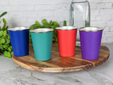 Coloured Stainless Steel Cups