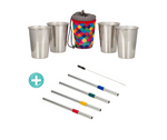Bundle Stainless Steel Cups and Straws