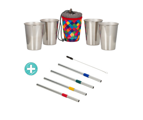 SALE Stainless Steel Cups and Straws Bundle