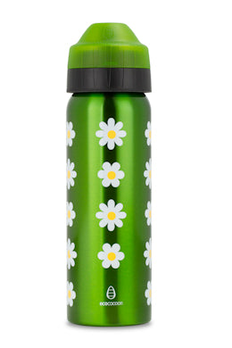 Ecococoon 600ml stainless steel vacuum insulated drink bottle Daisies