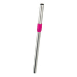 Stainless Steel Straw - Pink Tourmaline