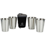 URBAN CHIC 4 Cup Set - Black