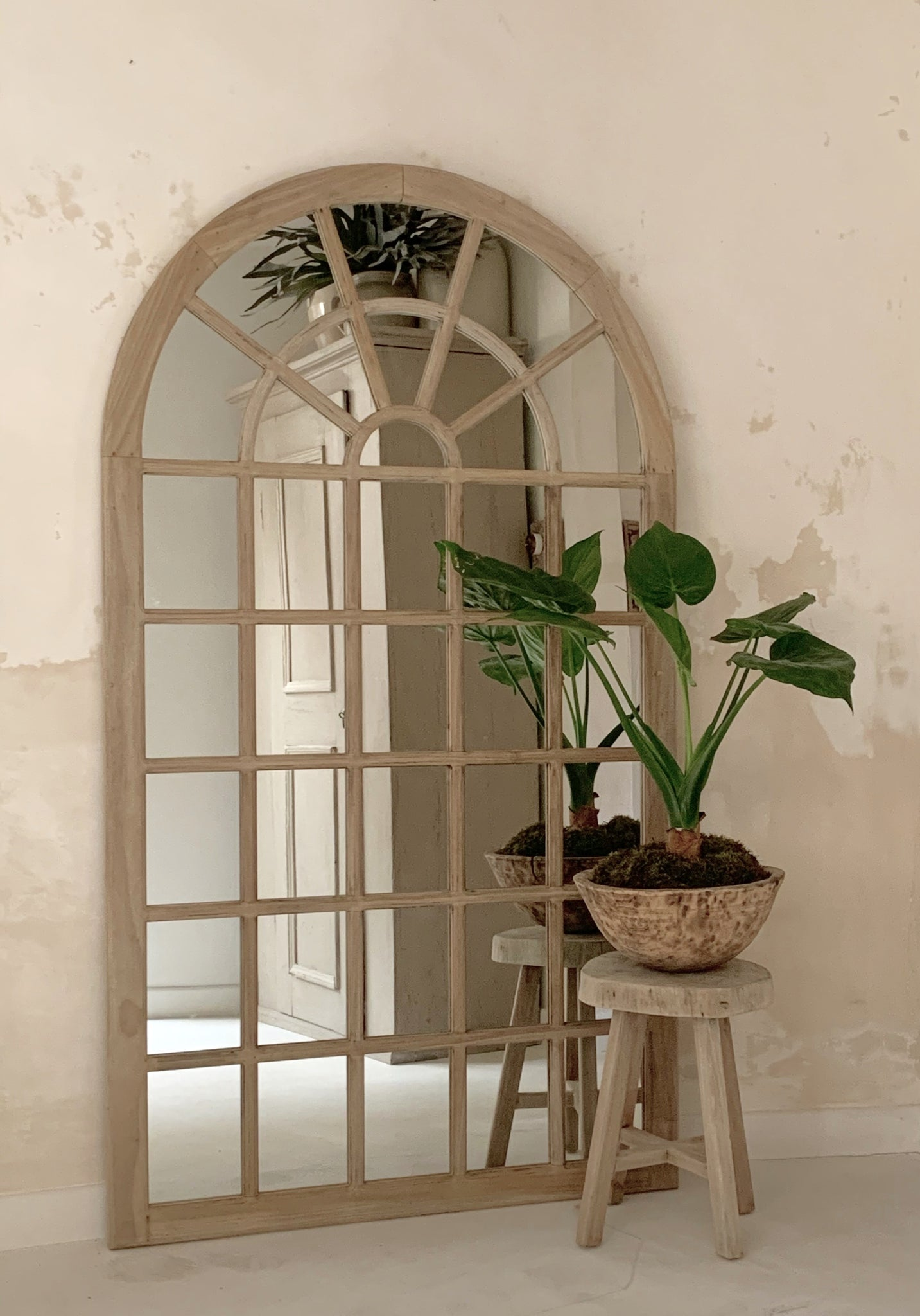 Tall Georgian Fanlight Mirror