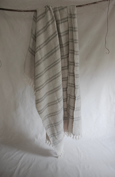Cotton Stripe Throw