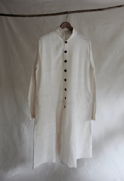 Long  Cotton Cream Coat