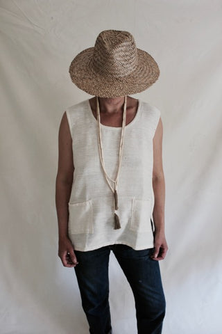 Sleeveless Organic Cotton Tunic Top