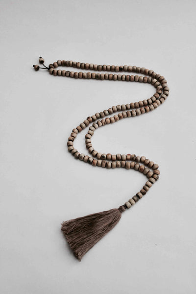 Beautiful Handmade Mala Horn Necklace With Silk Tassel