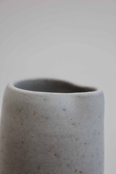 Small Stoney White Handmade Ceramic Milk Jug