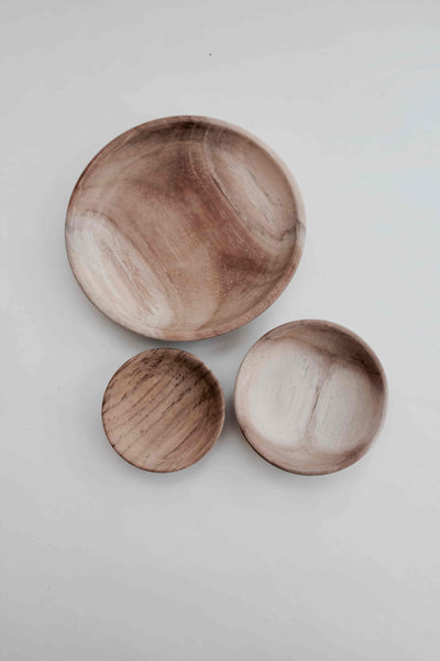 Small Natural New Teak Dish