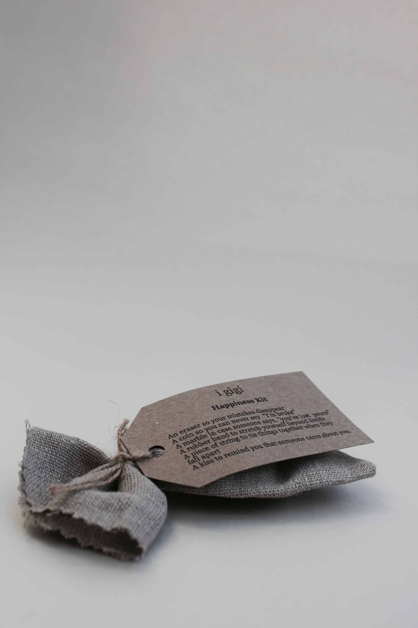 i gigi Happiness Kit - Small Grey Natural Linen