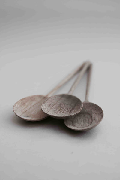 Untreated New Teak Wooden Spoon