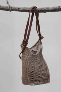Woven Antique Fishermans Bag