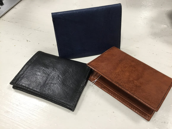 Leather Folding Wallet Compact