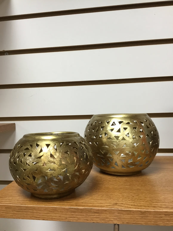 Brass candle votives