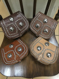 Leather Saddle Cross Body Ornate
