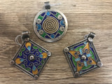 Sterling Silver and enamel pendant