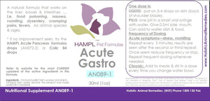 AN089 - Gastro Stomach - acute or chronic, vomiting, pain, cramping