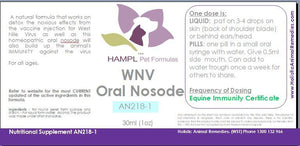 AN218 - West Nile Nosode - Homeopathic Prophylactic.
