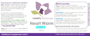 AN293 - CANINE Heartworm - non chemical effective & proven (HOMEOPATHIC heartworm nosodes) - Natural Prevention (puppy, toy dogs as easier to dose with smaller pets)