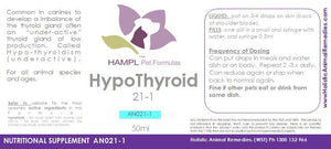 AN021 - Hypothyroidism (low or borderline thyroid function) behavior and physical disorders with your dog.