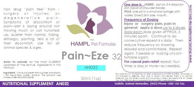 AN032 - Pain Eze - Pain from general inflammation, fever, or post surgery, and injuries for all species.