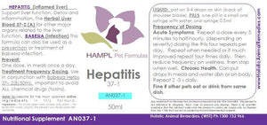 AN037(A) - Hepatitis (inflamed liver) - Enlarged liver, Cholangiohepatitis - all species