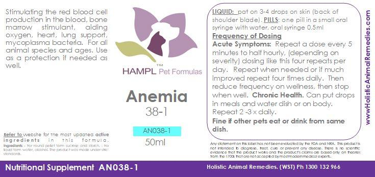 "AN038 - Anemia - Auto-immune disorder, aplastic anemia, feline infectious anemia, hemolytic anemia - IMHA - enlarged spleen - which is ""Low Red Blood Cells"" - Babesiosis - IMHA."