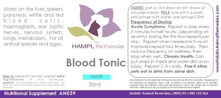 AN039 - Blood Tonic - homeopathic (blood disease)