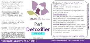 AN042 - General Chemical Drugs Detox (.. antibiotics, prednisone etc  -  past or present pet drug and products use) as well as other possible unknown toxic ingredients GENERAL DETOX