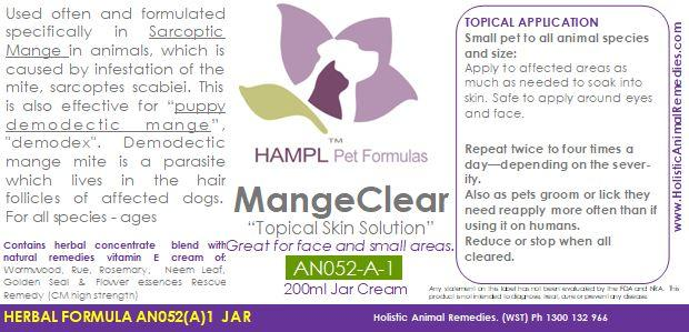 AN052(A) - Mange (SKIN mites on body) demodectic mange in Canine and Large animals.