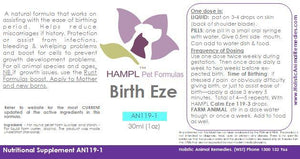 AN119 - Birthing Support - Milk Flow, Retained Placenta Prevention or Relief, Miscarriage issues and Stress relief for mum and babies - for all species.  e.g  Equine, Feline, Canine, Cow, etc