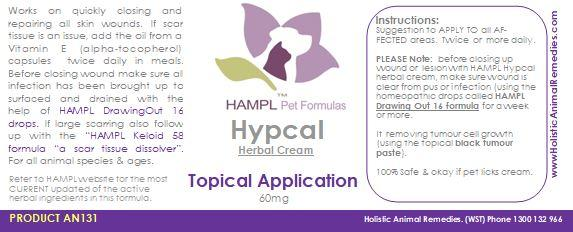 AN131 - Herbal Repair Cream (Hypcal) for healing skin wounds - once cleared of pus.