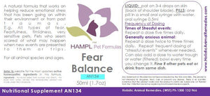 AN134 - Behavior - Fear Balance - all species