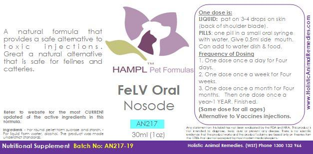 AN217 - FeLV Oral Nosode (homeopathic prophylactic)