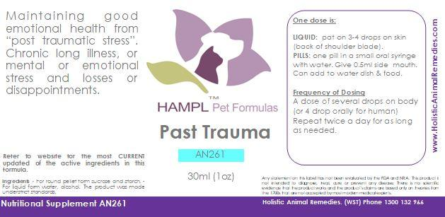 AN261 - Behavior - Past Trauma or Post Traumatic Stress release for all species and ages