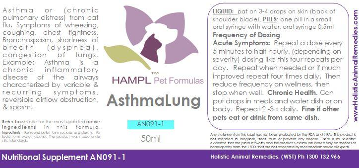 AN091 - Asthma Respiratory conditions COPD - chronic obstruction pulmonary disease in all species