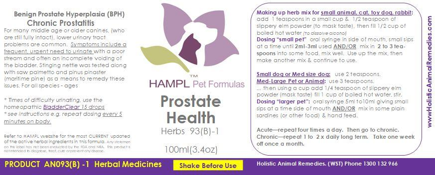 AN093(B) - Prostate Health Support-Benign prostatic hyperplasia (BPH) - clinical naturopathic formulas for all species