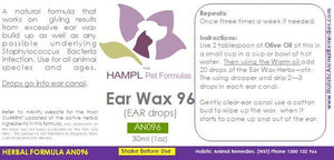 AN096 - Ear Wax in dog, cat or other species
