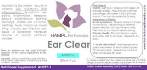 AN097(B) - Ear Infection (ruptured ear canal) e.g bacterial infection pseudomonas aeruginosa, in a dog, cat all species
