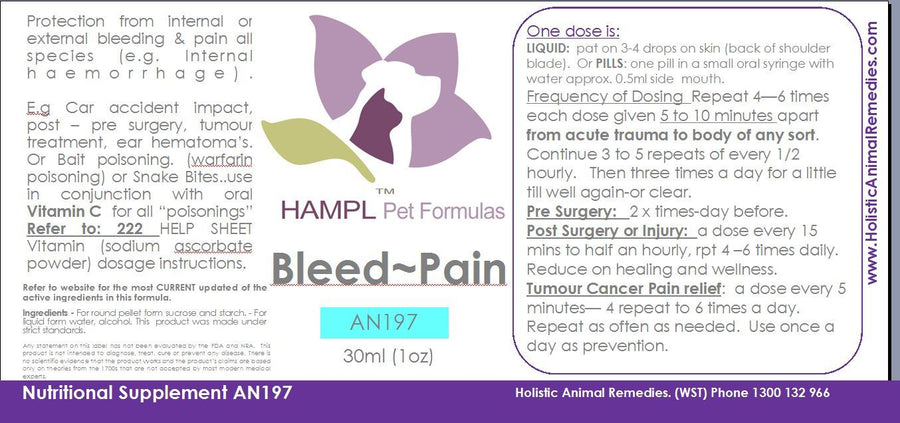AN146 - Prevention of bleeds repair and strengthen weak blood vessels. Commonly needed for performance horses.